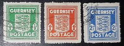 GUERNSEY WAR OCCUPATION ISSUES SG1-3 Set of 3 used stamps (No1253)