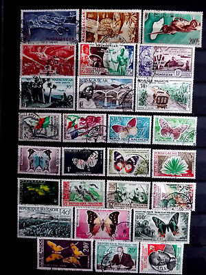 Small used stamps collection of Madagascar as scan.