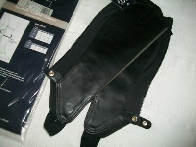 Shires Synthetic Leather Gaiters/half Chaps. Amara Lined. Medium