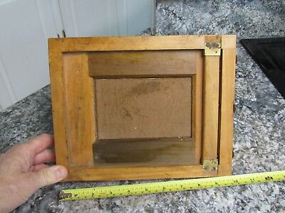 "VINTAGE 8"" X 10"" Wood Glass Plate / Film Negative Holder with Brass Hinges"