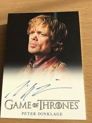 2012 Game Of Thrones Ltd Ed Autograph Card Peter Dinklage Season 2 VERY RARE