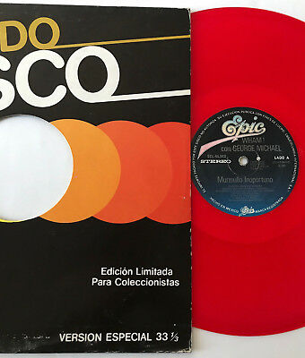 "WHAM murmullo inoportuno MEXICO 12"" red vinyl PRISTINE careless whisper RARE"