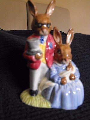 Royal Doulton Father, Mother and Victoria Bunnykins 1988