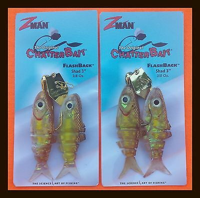 "*Great Deal* Lot of ZMan The Original Chatterbait, Flashback   Shad 3""  3/8 oz"