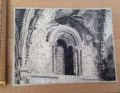 An Antique Ink Drawing Of Church Interior, Initialled JSC