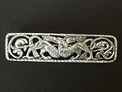 Silver Dragon Brooch Mythical Iona Celtic Scottish Alexander Ritchie copy?