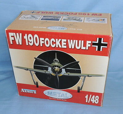 Armour Die Cast Metal Model FW-190 Focke Wulf 1/48 ART-98030