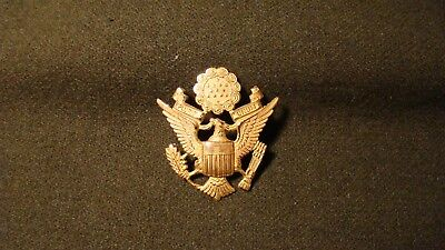 US Army Officer's Screw Back Two Pin Eagle Cap Insignia Badge GEMSCO Acid Test