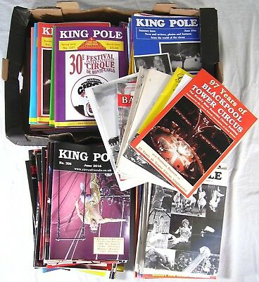 King Pole CIRCUS 208 Magazines lot 1975-2016