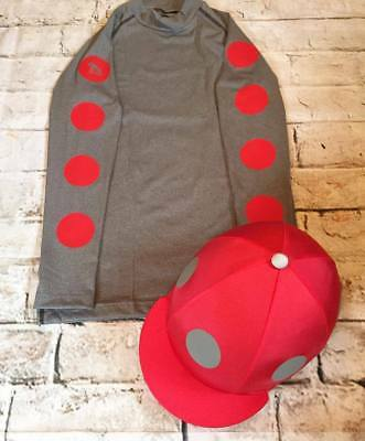 SXC Eco Cross Country Colour XC Spots Eventing Equestrian Hat Silk Cover Custom