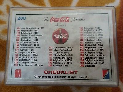 1994 Coca Cola Series 2 + 8 Coke Caps Set