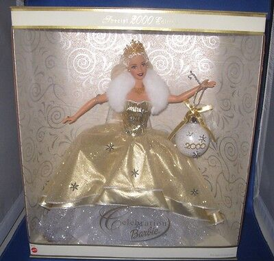 2000 Special Edition Celebration Holiday Barbie Collector Barbie Doll, Nrfb