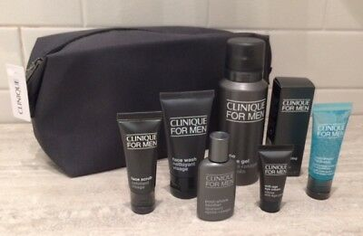 Clinique for Men Gift Set Plus Other Trial Samples and Wash Bag