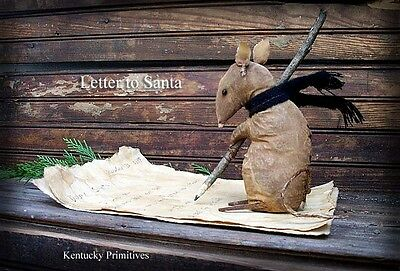 PriMiTiVe ~ Little Mousie's Letter to Santa ~ Winter Christmas Pattern