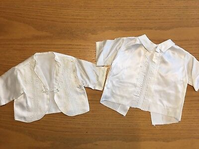 Vintage Sears Newborn Outfits Acetate White
