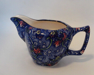 Ringtons  Tea Merchants  Blue floral jug . Ex. Condition