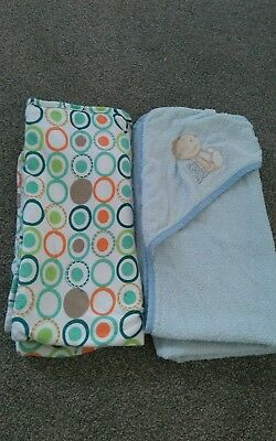 Two hooded baby towels
