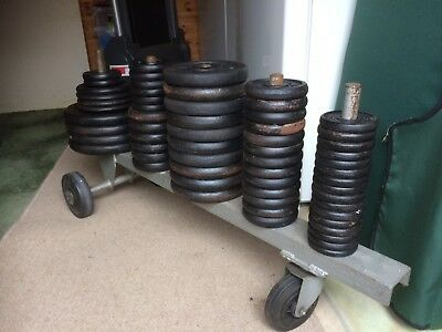 """1"""" Cast Iron Weights Plates Discs for Dumbells Barbells  146KG in total"""
