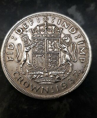 Silver crown FULL SIZE 1937 CROWN, HIGH GRADE , 50 % SILVER  lot 2.