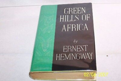 GREEN HILLS OF AFRICA Ernest Hemingway Hardcover W/jacket USA 1935 English
