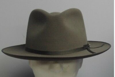 """Stetson """"stratoliner"""" Bound Rotal Stetson Caribou Size 7 1/4 Great Fedora!"""