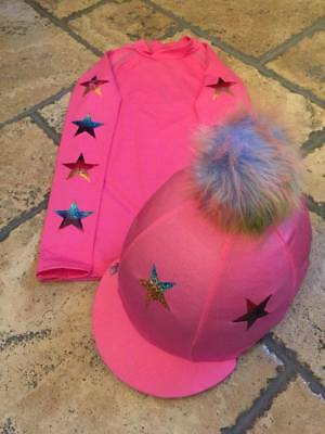 SXC Eco Cross Country Colour XC Stars Eventing Equestrian Hat Silk Cover Custom