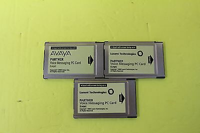 Lot of 3 Avaya Partner Large Card VM Voicemail for ACS - DEFAULTED WITH WARRANTY