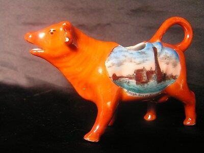 Luste Ware Cow Creamer 1920 Blackpool In Rough Seas Cream Tea Breakfast Foreign