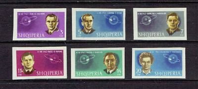 Albania 1963 Conquest Of Space - Imperf - Scott 680 To 685 - Mnh