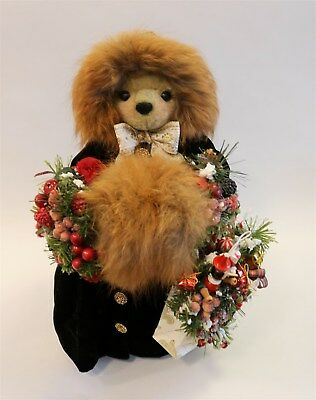 """Apple Whimseys Bear """"On The Avenue"""" Numbered and Dated 17"""" Only One Made"""