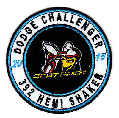 2015 Dodge Challenger 392 Hemi Shaker Scat Pack Embroidered Iron On Patch