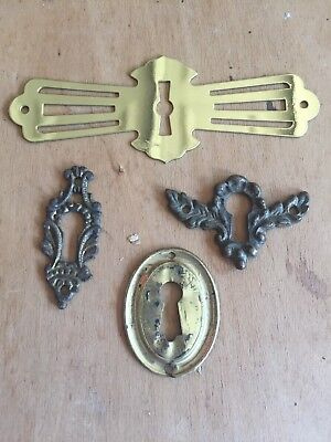 Vintage Key Hole Cover Lot Of 4 Antique