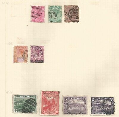 Tasmania.  A selection of used stamps.