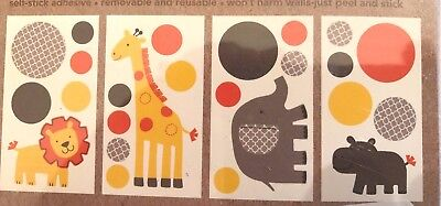 Carter's Sunny Safari Wall Decals Stickers ( PACK OF 2) Brand New!