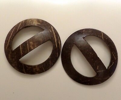TWO Large Sarong Scarf Coconut Shell Buckles. UK Supplier. *Fast Delivery*