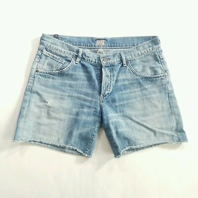 Citizens of Humanity Women's Skyler Low Rise Distressed Loose Denim Shorts Sz 28
