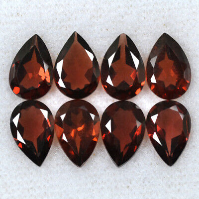 Natural Pyrope Pink Red Garnet Pear Cut Lot Mozambique 10.60 Cts 9x6 mm 8 Pcs