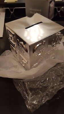 Silver plated child's novelty money box