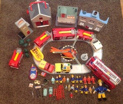 Fireman Sam Great bundle collection figures, Buildings And vehicles toys