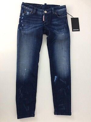 Dsquared2 NEW skinny Distressed Jeans Rrp £ 138 Boys Age 8 Years Bnwts