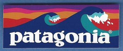 New Authentic Patagonia Retro Waves Hiking Outdoor Sticker Decal
