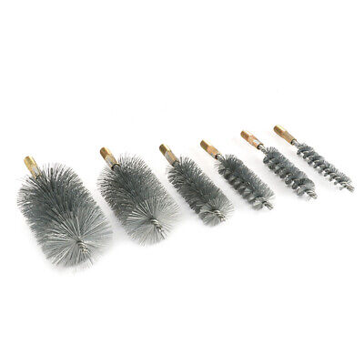 18mm-75mm Stainless Steel Round Wire Tube Pipe Cleaning Brush 12mm Thread 1Pc