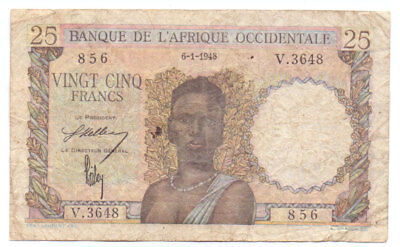 French West Africa 25 Francs 1948, P-38