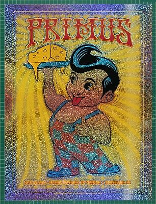 Primus @ Cleveland 2014 concert silkscreen poster sparkle #P119 by Dave Hunter