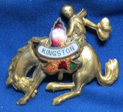 Vintage Kingston, Canada Rodeo Cowboy Bronc Rider Pin