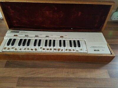 Vintage Casiotone MT-30 with Custom wood and velour case