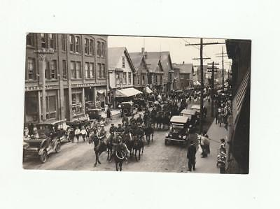 Vintage Real Photo Postcard WWI Parade Summerside PEI Canada Great Street View
