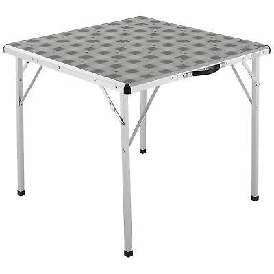 Coleman Antimicrobial Flexible Square Folding Camping Table, 80 x 80 x 70 cm