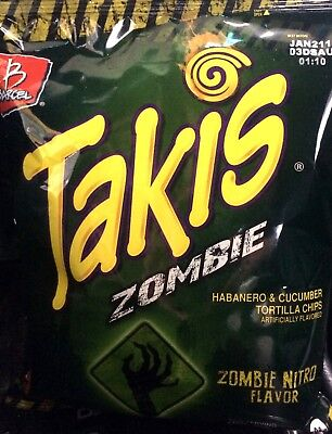 Takis ZOMBIE 10 oz  (Pack of 3) Super Crunchy!