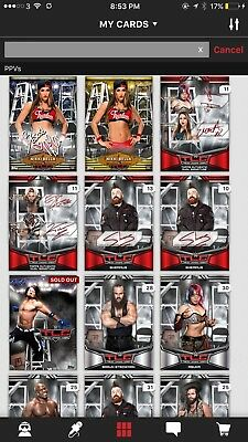 Wwe Topps Slam Digital FULL RED TLC SIG SET